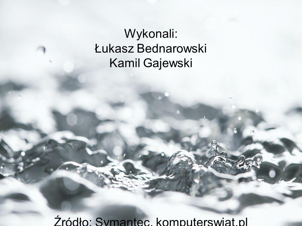 Wykonali: Łukasz Bednarowski Kamil Gajewski Źródło: Symantec, komputerswiat.pl Fot. Nyul | Dreamstime.com, Symantec
