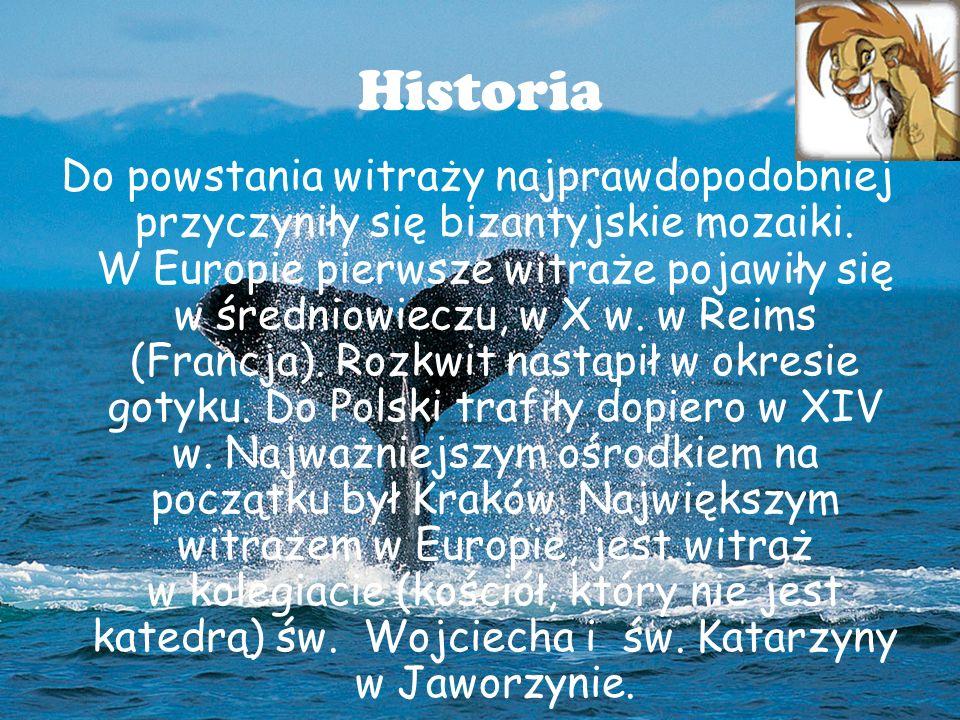 Historia Do powstania witraży najprawdopodobniej przyczyniły się bizantyjskie mozaiki.