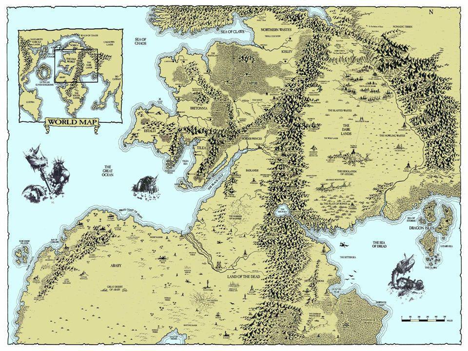 Warhammer nie jest bynajmniej typowym bajkowym światem fantasy - cały czas wisi nad nim widmo zagłady (można więc mówić o dark fantasy).