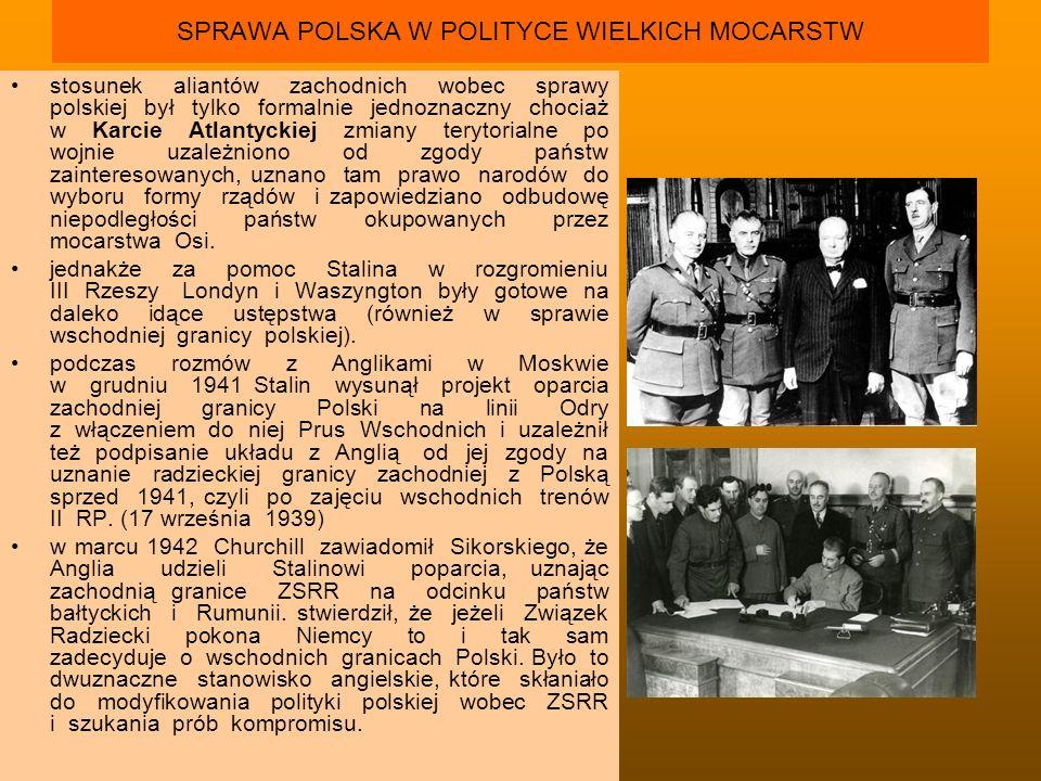 POGARSZANIE SIĘ STOSUNKÓW POLSKO - RADZIECKICH zaginięcie oficerów i żołnierzy polskich, którzy we wrześniu 1939 zostali uwięzieni w Starobielsk, Kozielsku i Ostaszkowie odmowa Andersa wysłania na front 5 Dywizji gen.