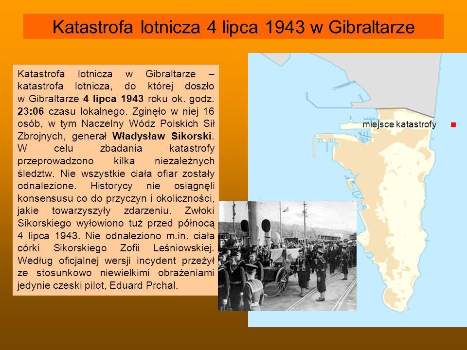 Katastrofa lotnicza 4 lipca 1943 w Gibraltarze Katastrofa lotnicza w Gibraltarze – katastrofa lotnicza, do której doszło w Gibraltarze 4 lipca 1943 ro