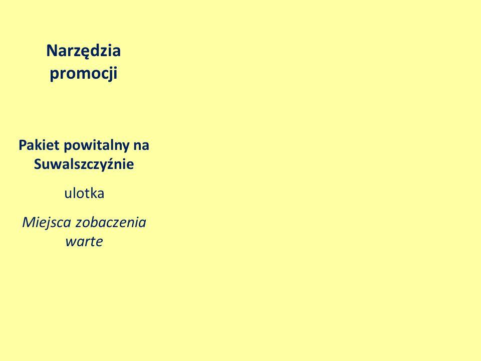 Pakiet powitalny na Suwalszczyźnie ulotka Miejsca zobaczenia warte Narzędzia promocji