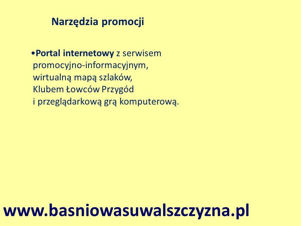 Portal internetowy z serwisem promocyjno-informacyjnym, wirtualną mapą szlaków, Klubem Łowców Przygód i przeglądarkową grą komputerową. www.basniowasu