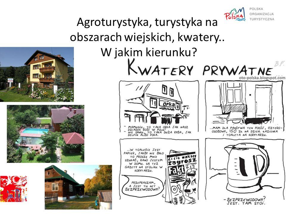 Agroturystyka, turystyka na obszarach wiejskich, kwatery.. W jakim kierunku?