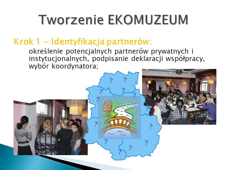 Krok 1 - Identyfikacja partnerów: określenie potencjalnych partnerów prywatnych i instytucjonalnych, podpisanie deklaracji współpracy, wybór koordynat
