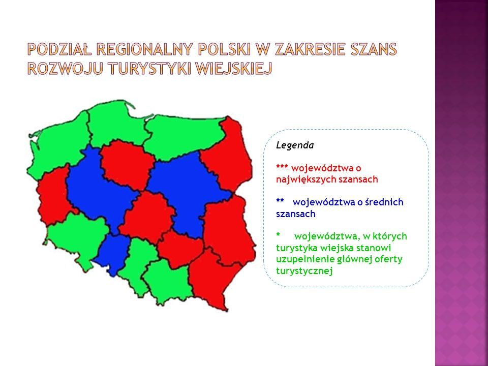 Ekspertyza w zakresie potencjału produktów turystyki wiejskiej w Polsce i ich konkurencyjności na regionalnym, krajowym i zagranicznym rynku usług turystycznych jest dostępna na: http://www.bip.minrol.gov.pl/DesktopModules/Announcement/ViewAnno uncement.aspx?ModuleID=1564&TabOrgID=1683&LangId=0&Announcement Id=15104&ModulePositionId=2199 Atrakcyjność turystyczna obszarów wiejskich wg województw Inwentaryzacja produktów turystyki wiejskiej wraz z oceną konkurencyjności (42 produkty, w tym 10 uznanych za flagowe produkty polskiej turystyki wiejskiej) Dobre praktyki z zakresu rozwoju turystyki na obszarach wiejskich Turystyka w PROW 2014-2020
