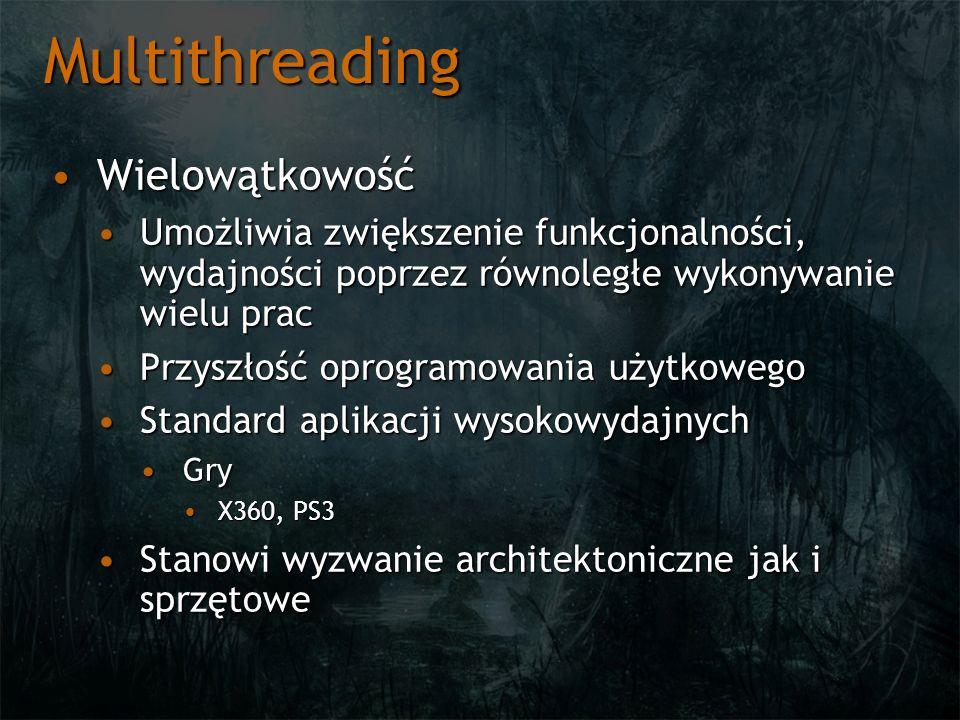 Multithreading WielowątkowośćWielowątkowość Skalowalność architekturSkalowalność architektur 2, 4, 8,..