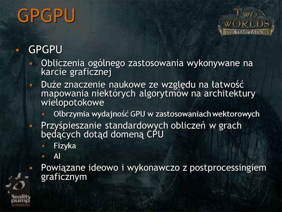 GPGPU GPGPUGPGPU Obliczenia ogólnego zastosowania wykonywane na karcie graficznejObliczenia ogólnego zastosowania wykonywane na karcie graficznej Duże