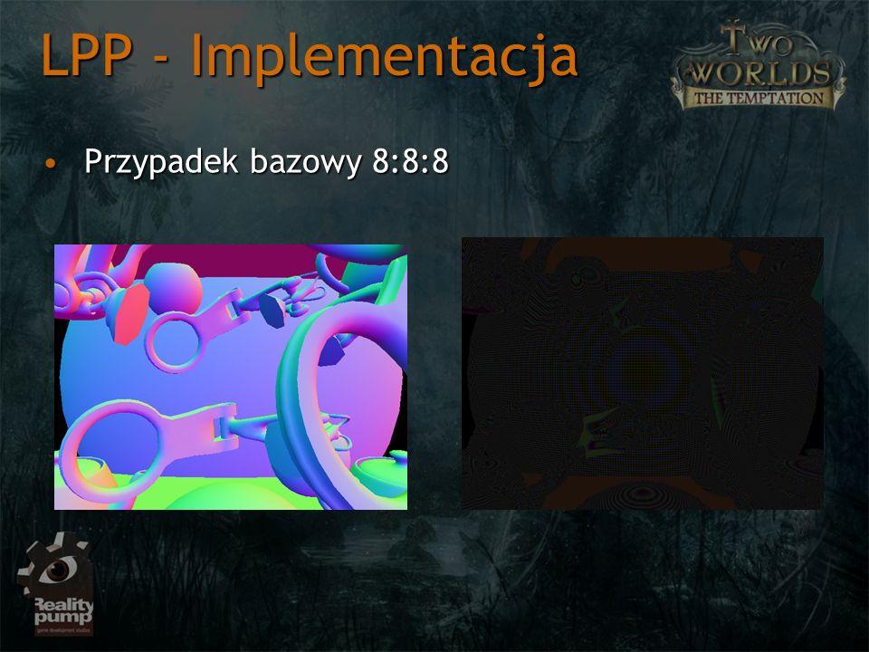 Przypadek bazowy 8:8:8Przypadek bazowy 8:8:8 LPP - Implementacja