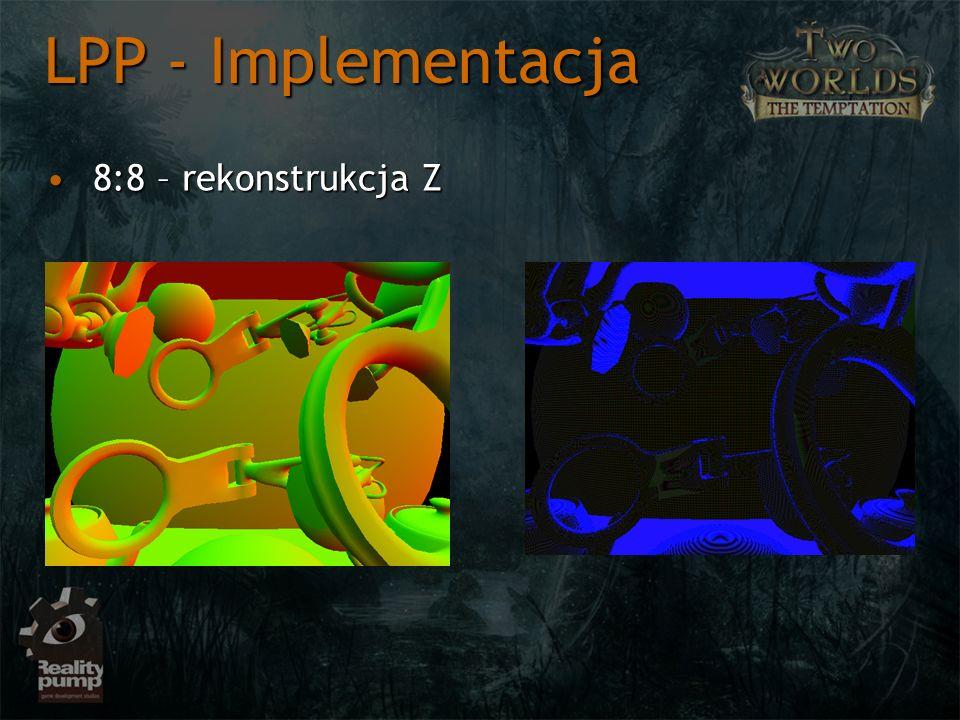8:8 – rekonstrukcja Z8:8 – rekonstrukcja Z LPP - Implementacja