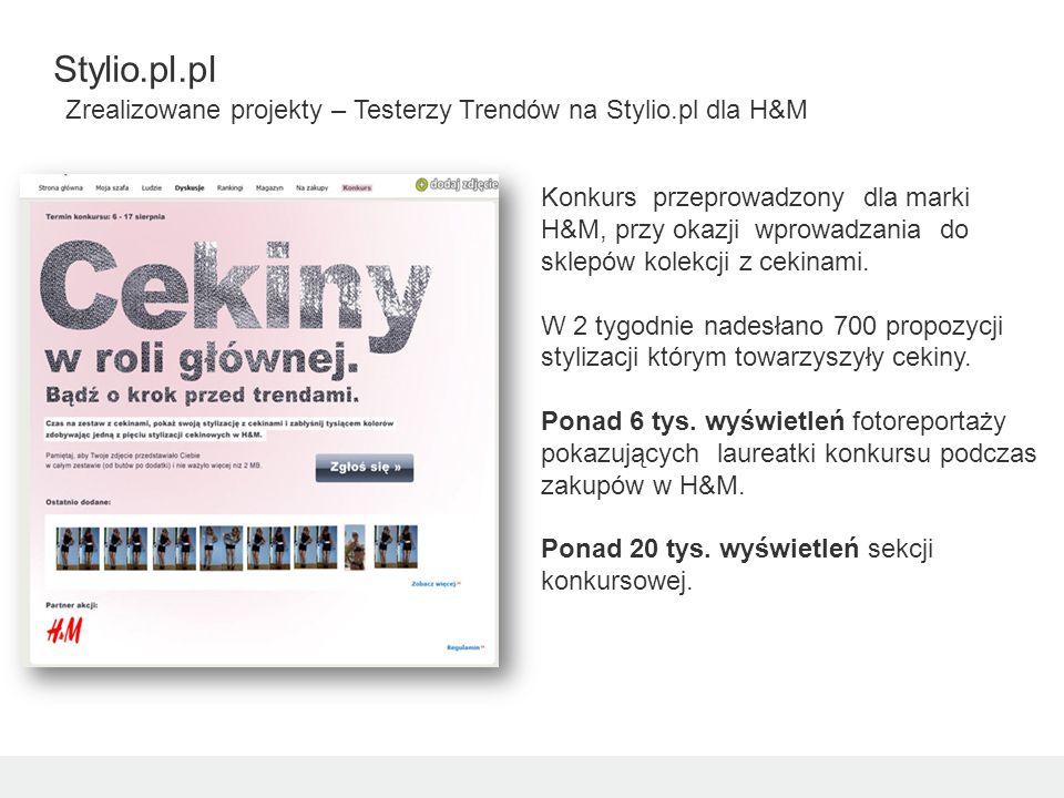 Konkurs przeprowadzony dla marki H&M, przy okazji wprowadzania do sklepów kolekcji z cekinami.