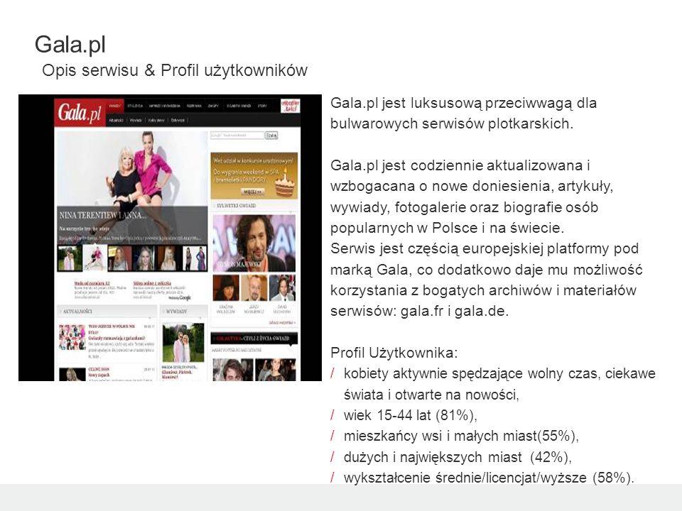 Gala.pl jest luksusową przeciwwagą dla bulwarowych serwisów plotkarskich.
