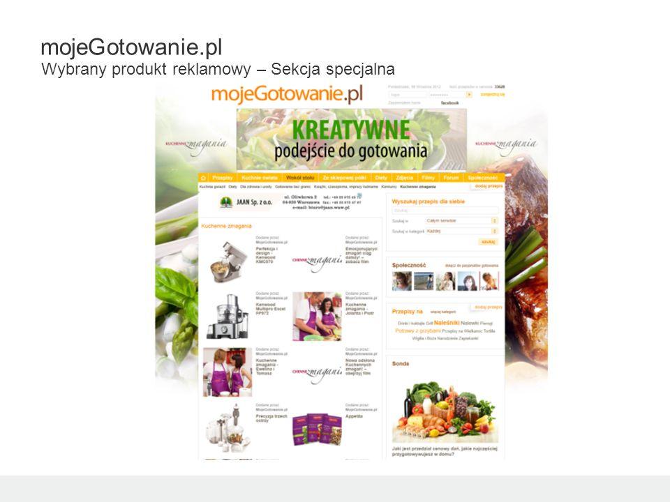 mojeGotowanie.pl Wybrany produkt reklamowy – Sekcja specjalna