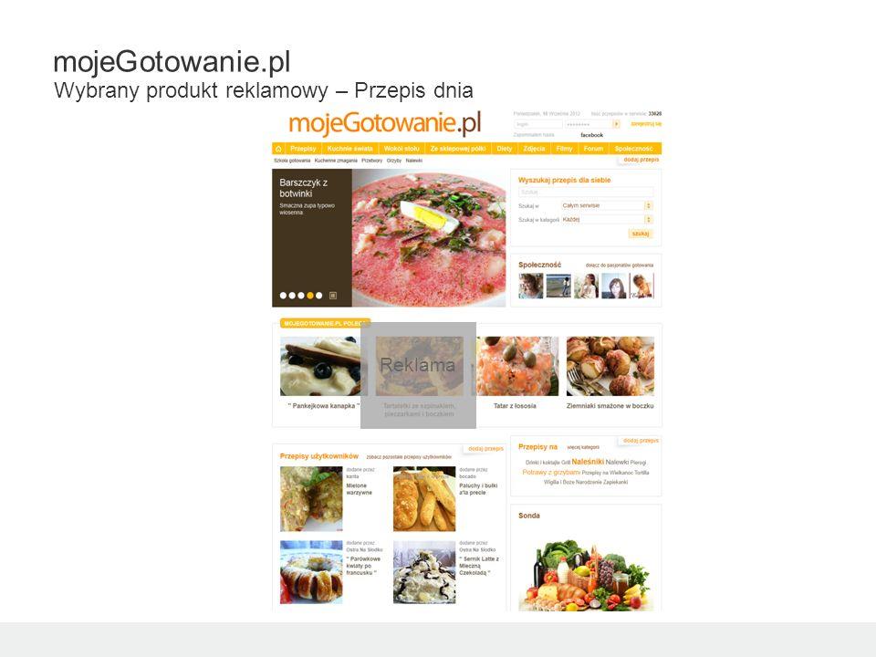 Reklama mojeGotowanie.pl Wybrany produkt reklamowy – Przepis dnia
