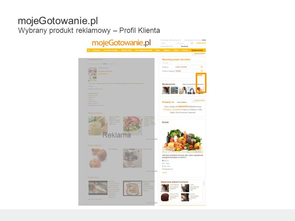 Reklama mojeGotowanie.pl Wybrany produkt reklamowy – Profil Klienta