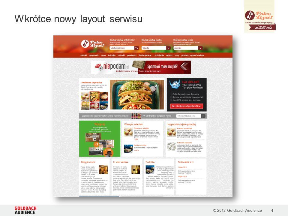 Wkrótce nowy layout serwisu © 2012 Goldbach Audience4