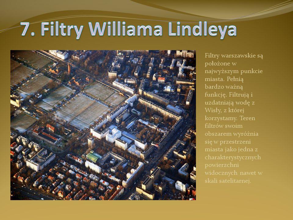 Filtry warszawskie są położone w najwyższym punkcie miasta. Pełnią bardzo ważną funkcję. Filtrują i uzdatniają wodę z Wisły, z której korzystamy. Tere