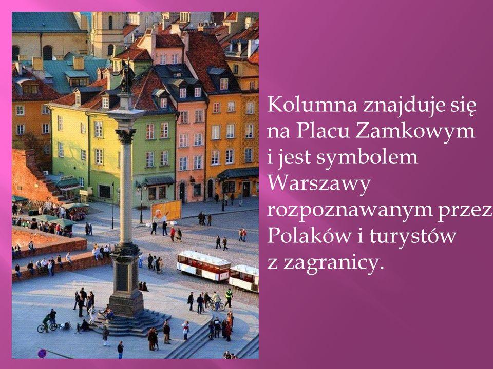 Jest najstarszym świeckim pomnikiem w Warszawie. Na cokole umieszczona jest podobizna króla Zygmunta III Wazy. Kolumna została wystawiona z inicjatywy