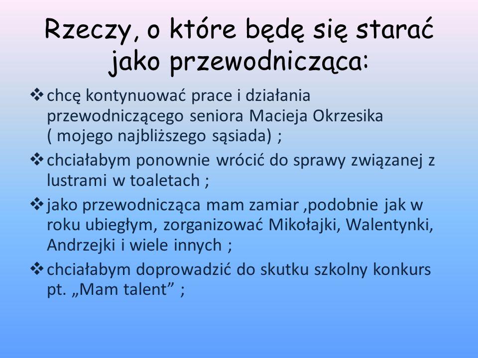 Coś o mnie..Jestem uczennicą klasy 2f, wychowawstwa pani mgr Małgorzaty Wisły-Sosny.