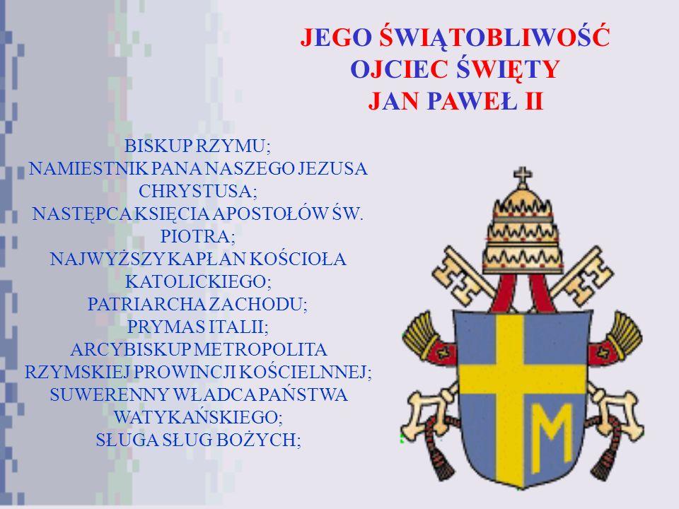 Jan Paweł II w Polsce TU NACISNĄĆ!!! SPIS TREŚCI
