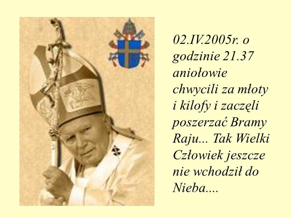 TOTUS TUUS Hasłem pontyfikatu Jana Pawła II było Totus Tuus - Cały Twój, które było wyrazem jego zawierzenia Maryi