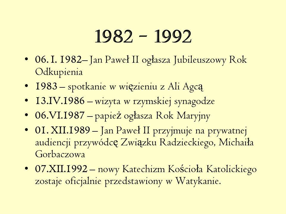 13. V. 1981 – ZAMACH NA PAPIE Ż A 13.V.1981 r, na pl ś w.