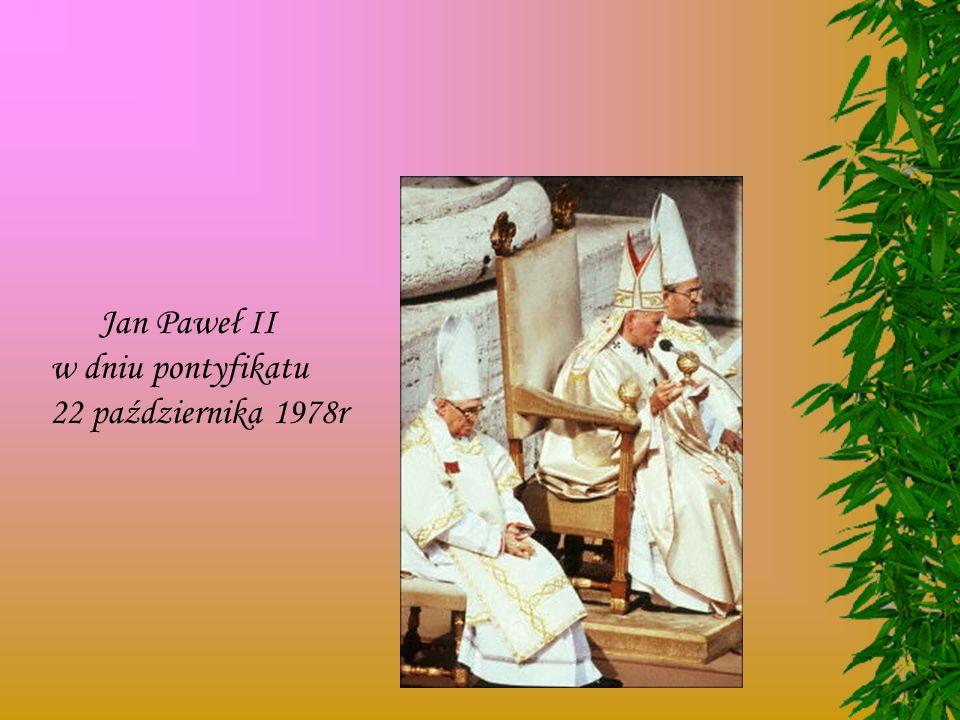 Jan Paweł II w dniu pontyfikatu 22 października 1978r