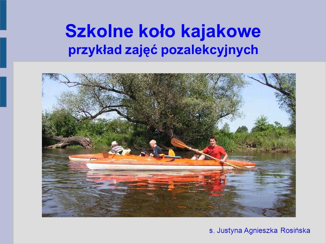 Szkolne koło kajakowe przykład zajęć pozalekcyjnych s. Justyna Agnieszka Rosińska