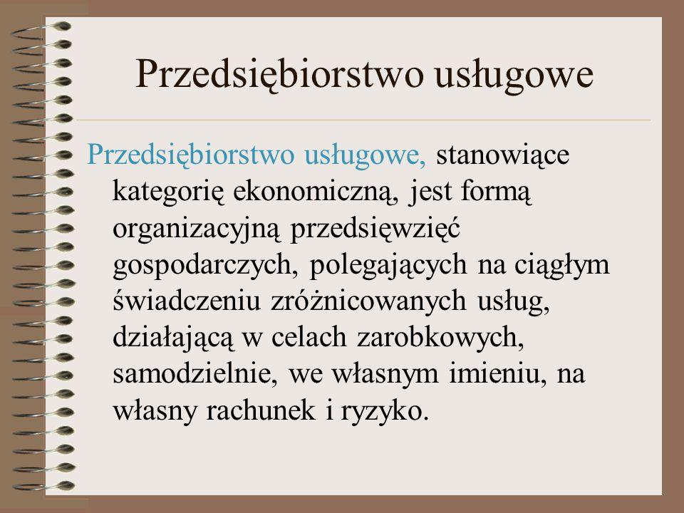 Klasyfikacja przedsiębiorstw Kryterium klasyfikacjiRodzaj przedsiębiorstw Przedmiot działalnościNp.
