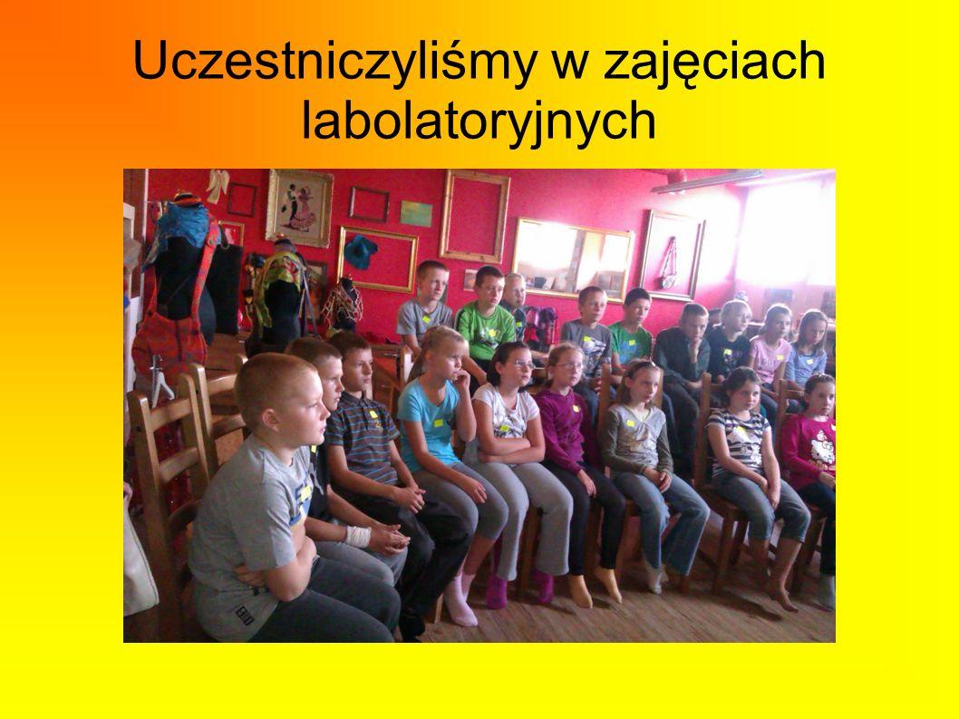 Uczestniczyliśmy w zajęciach labolatoryjnych