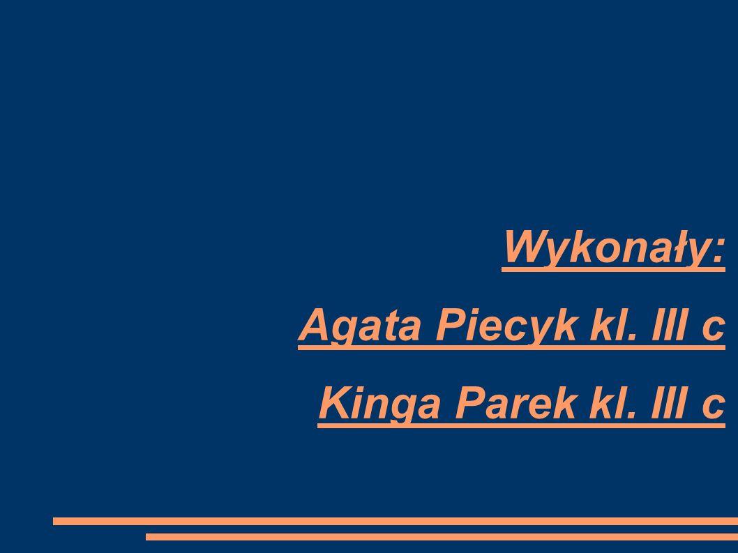 Wykonały: Agata Piecyk kl. III c Kinga Parek kl. III c