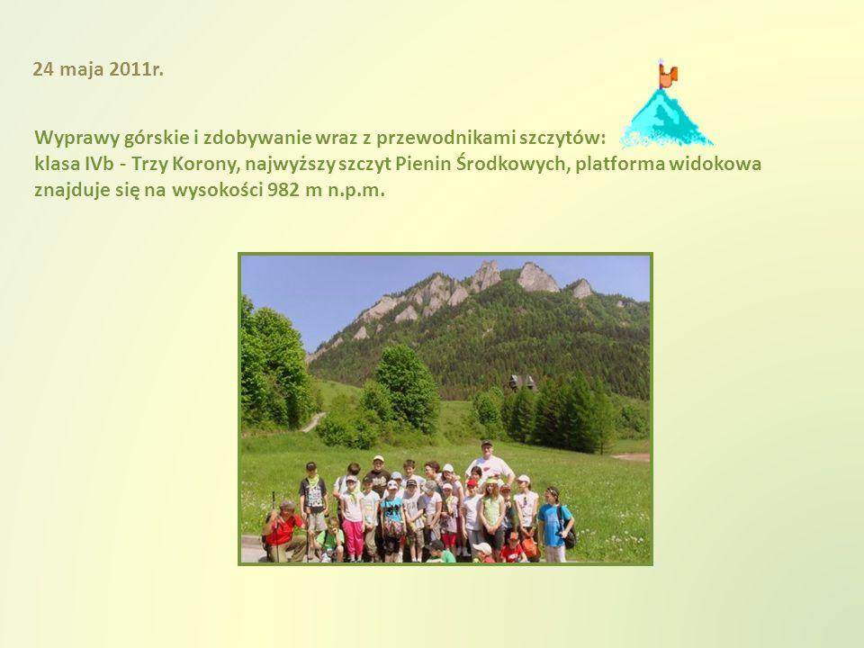 Wyprawy górskie i zdobywanie wraz z przewodnikami szczytów: klasa IVb - Trzy Korony, najwyższy szczyt Pienin Środkowych, platforma widokowa znajduje się na wysokości 982 m n.p.m.