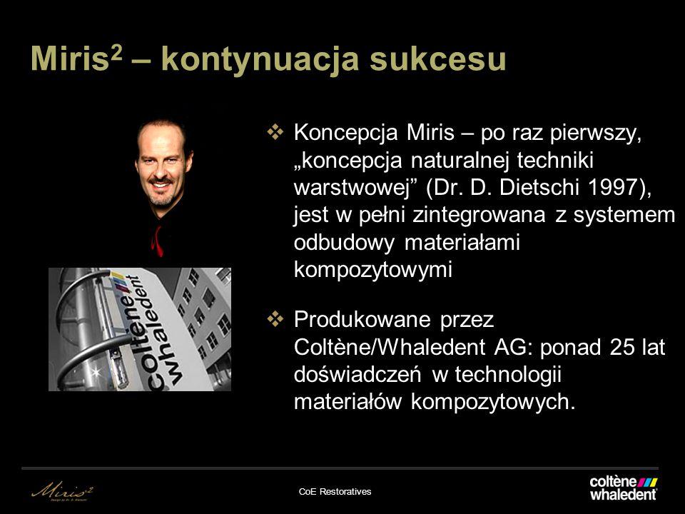 Miris 2 – kontynuacja sukcesu Koncepcja Miris – po raz pierwszy, koncepcja naturalnej techniki warstwowej (Dr.