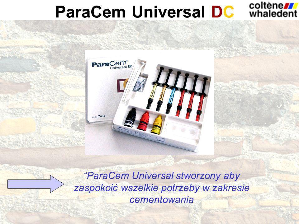 ParaCem Universal stworzony aby zaspokoić wszelkie potrzeby w zakresie cementowania ParaCem Universal DC