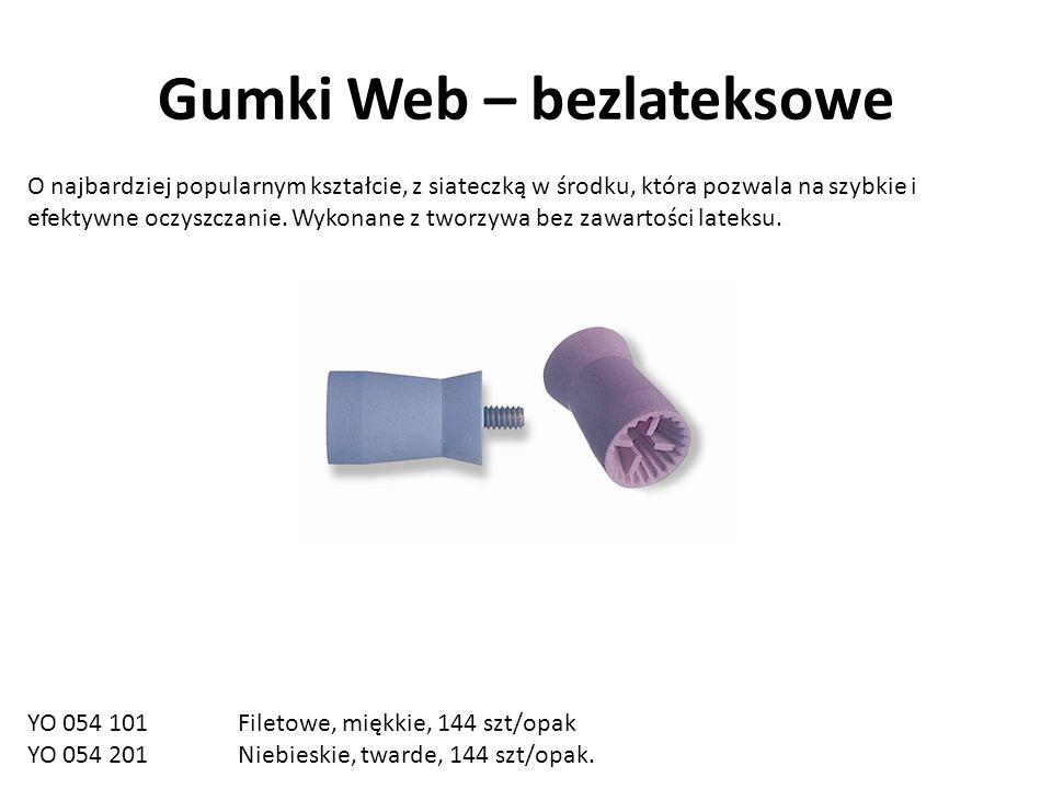 Gumki Web – bezlateksowe O najbardziej popularnym kształcie, z siateczką w środku, która pozwala na szybkie i efektywne oczyszczanie.