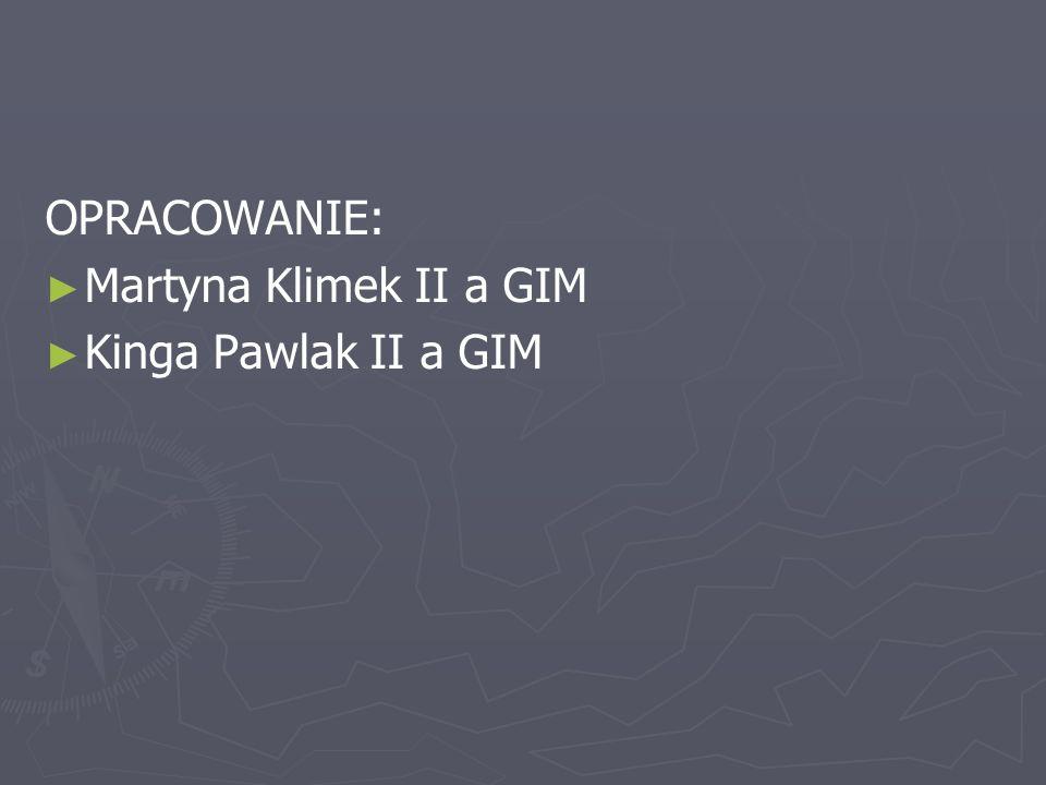 OPRACOWANIE: Martyna Klimek II a GIM Kinga Pawlak II a GIM