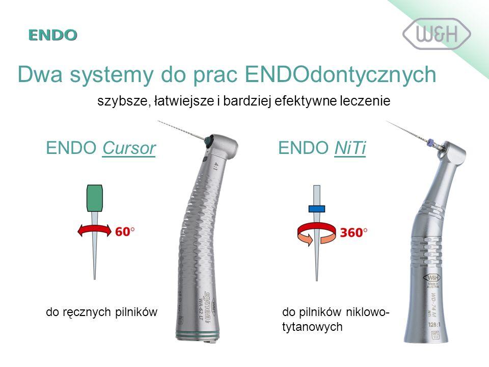 ENDO CursorENDO NiTi do ręcznych pilnikówdo pilników niklowo- tytanowych Dwa systemy do prac ENDOdontycznych szybsze, łatwiejsze i bardziej efektywne
