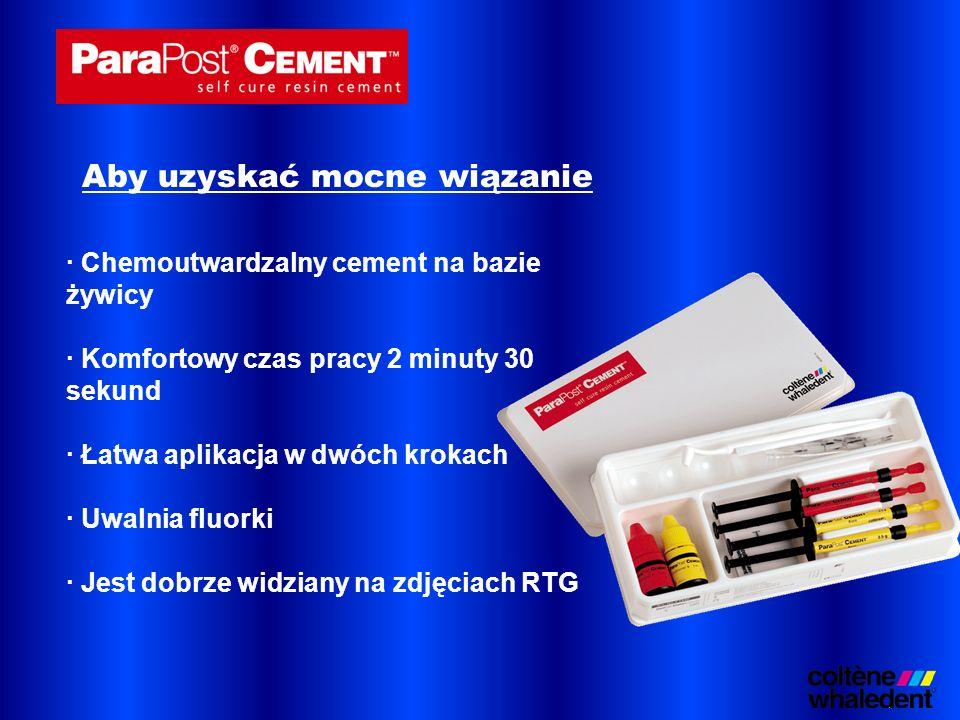 · Chemoutwardzalny cement na bazie żywicy · Komfortowy czas pracy 2 minuty 30 sekund · Łatwa aplikacja w dwóch krokach · Uwalnia fluorki · Jest dobrze