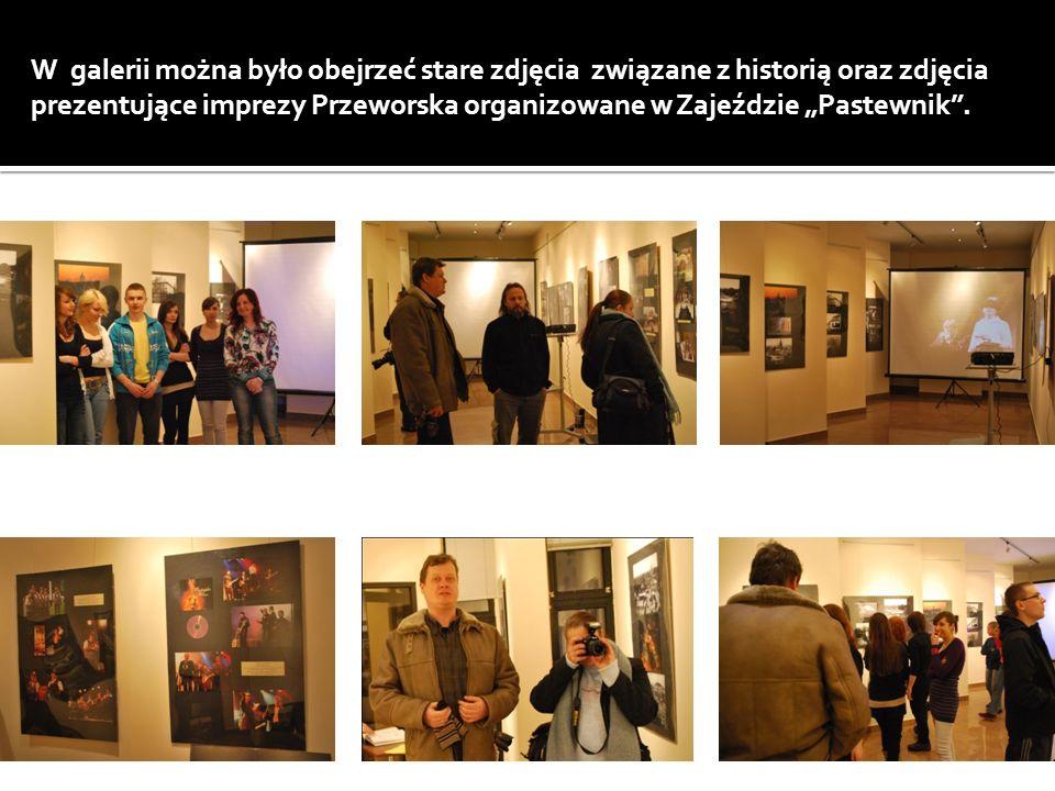 W galerii można było obejrzeć stare zdjęcia związane z historią oraz zdjęcia prezentujące imprezy Przeworska organizowane w Zajeździe Pastewnik.