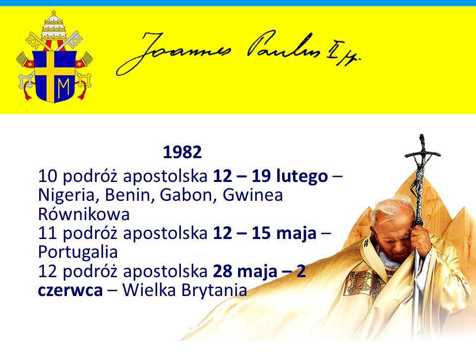 1999 85 podróż apostolska 22 – 28 stycznia – Meksyk, USA 86 podróż apostolska 7 – 9 maja – Rumunia 87 podróż apostolska (VII pielgrzymka do Polski) 5 – 17 czerwca – Polska