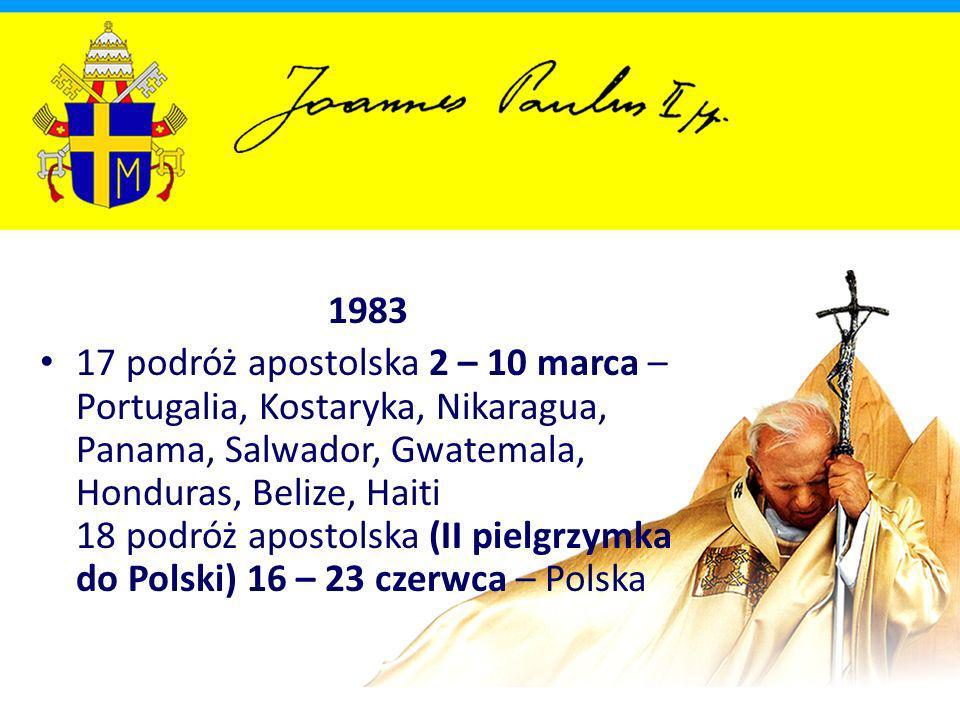 2000 90 podróż apostolska 24 – 26 lutego – Egipt 91 podróż apostolska 20 – 26 marca – Jordania, Izrael 92 podróż apostolska 12 – 13 maja – Portugalia