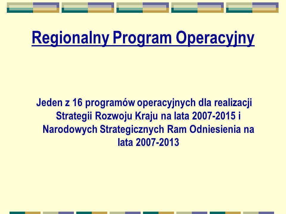 Cel główny WRPO Poprawa jakości przestrzeni województwa, systemu edukacji, rynku pracy, gospodarki oraz sfery społecznej skutkująca wzrostem poziomu życia mieszkańców.