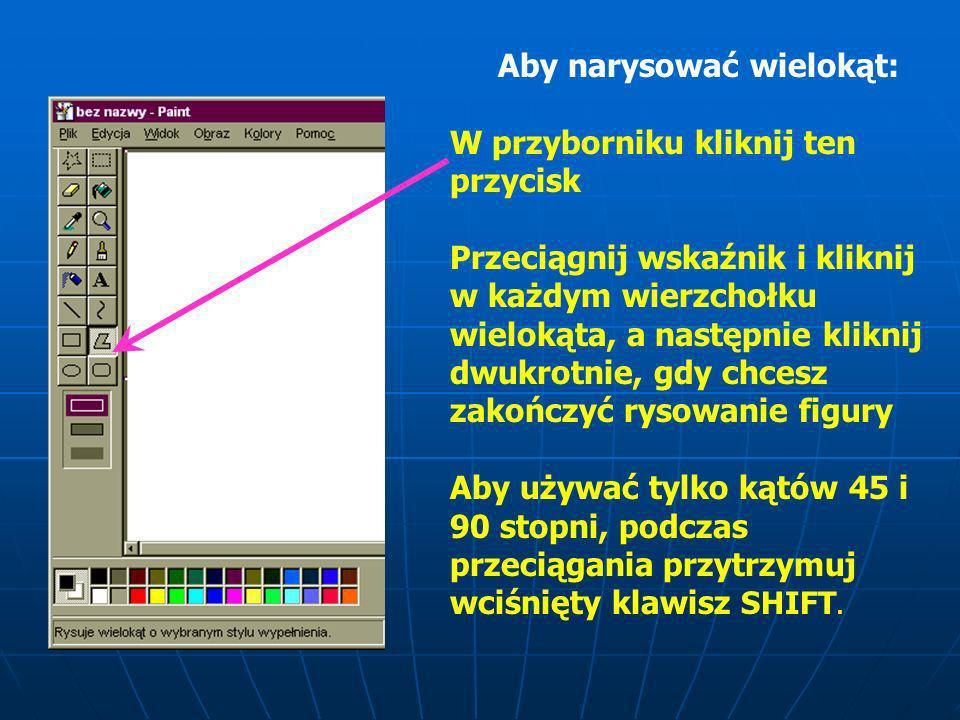 Aby narysować krzywą 1.W przyborniku kliknij ten przycisk 2.Kliknij szerokość linii u dołu przybornika. 3.Narysuj linię prostą, przeciągając wskaźnik