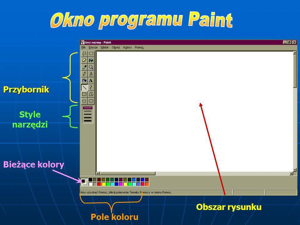 Przed rozpoczęciem rysowania możesz: Ustalać atrybuty rysunku (cechy wyglądu kartki) Zaakceptować atrybuty z jakimi zgłosił się program Wczytać istnie