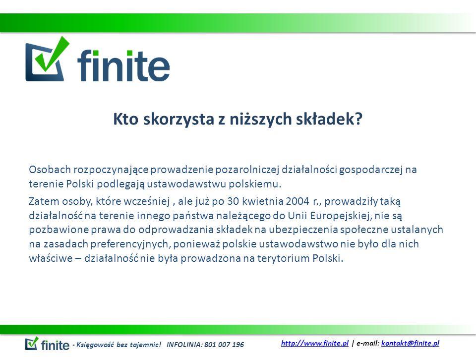 Kto skorzysta z niższych składek? Osobach rozpoczynające prowadzenie pozarolniczej działalności gospodarczej na terenie Polski podlegają ustawodawstwu