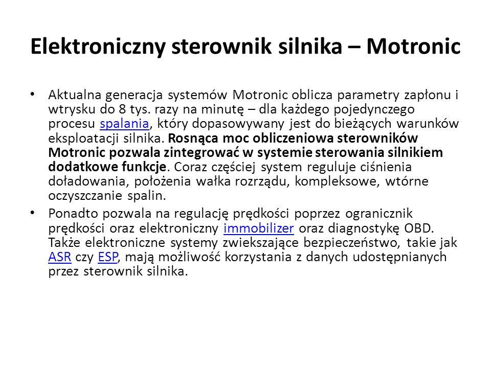 Aktualna generacja systemów Motronic oblicza parametry zapłonu i wtrysku do 8 tys.