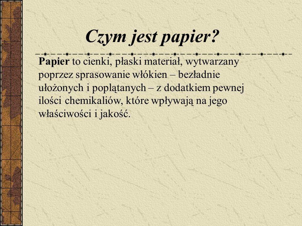 Czym jest papier.