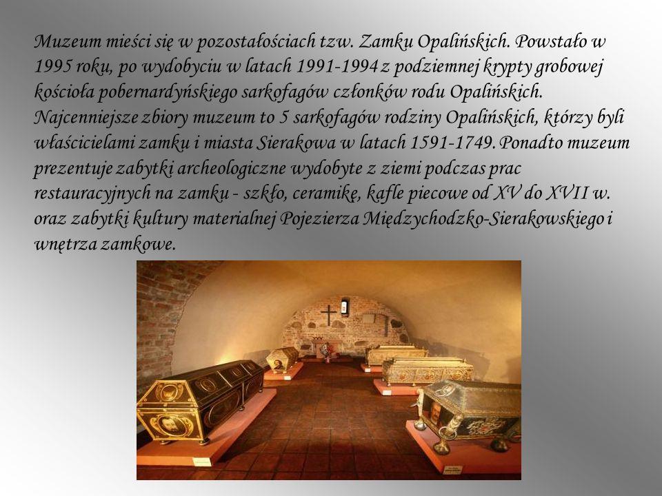 Muzeum mieści się w pozostałościach tzw. Zamku Opalińskich. Powstało w 1995 roku, po wydobyciu w latach 1991-1994 z podziemnej krypty grobowej kościoł