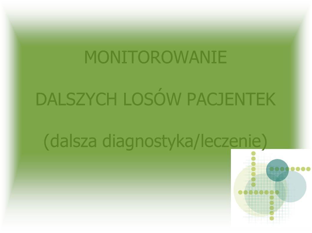 MONITOROWANIE DALSZYCH LOSÓW PACJENTEK (dalsza diagnostyka/leczenie)