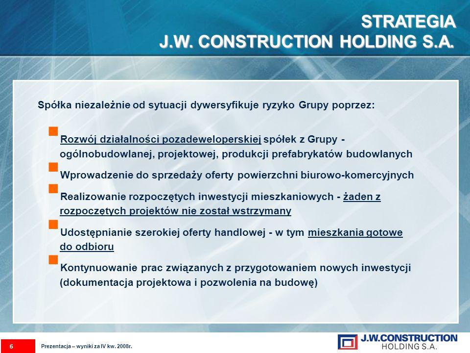 STRATEGIA- DYWERSYFIKACJA RYZYKA DZIAŁALNOŚCI GRUPY J.W.